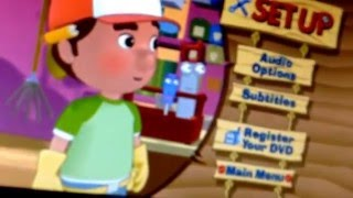 Disney Handy Manny Tooling Around  2007 DVD Menu