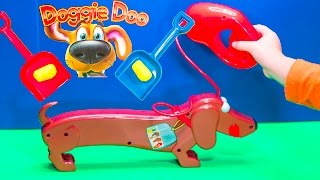 getlinkyoutube.com-DOGGY DOO Game the Dog Doo Surprise Poop Game a Surprise Game Video Toys Unboxing