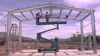 getlinkyoutube.com-Outback Steel Buildings: 14 - Install Purlins and Roof X-Bracing