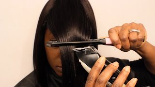 getlinkyoutube.com-Best Bob with a Bang Clippers Technique (Sensationnel Premium Next Hair Review)