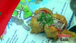 getlinkyoutube.com-TOMATO BAJJI - TOMATO BADA - Rajahmundry Street Foods - RARE STREET FOOD
