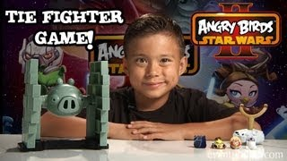 Jenga TIE FIGHTER GAME - Angry Birds STAR WARS II - Review by EvanTubeHD