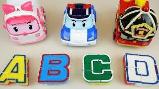 Robocar Poli car toys and ABC robot toy play