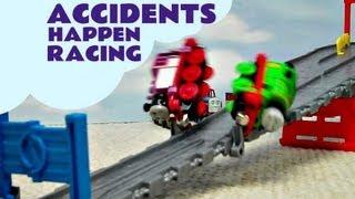 getlinkyoutube.com-Accidents Happen Thomas & Friends Take N Play Go Go Speedy Railway Kids Toy Train Set