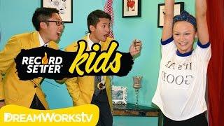 getlinkyoutube.com-Autumn Miller's No Hands Cartwheel Challenge I RECORDSETTER KIDS