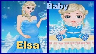 getlinkyoutube.com-Let's Play Elsa's Having a Baby Game Video | New Frozen Baby Games-Fun Baby Dress Up Games