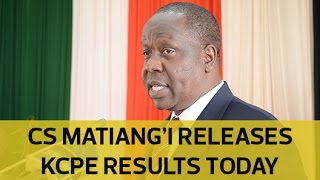 getlinkyoutube.com-Education CS Matiang'i releases KCPE results today