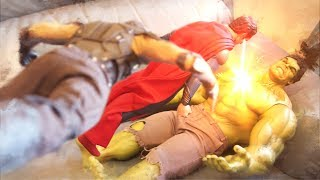 Superman VS Hulk and Wolverine Stop Motion