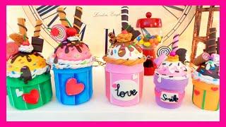 getlinkyoutube.com-Manualidades fáciles: dulceros en forma de cupcake reciclar tarros de cristal