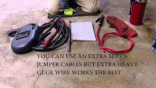 getlinkyoutube.com-Welding with car batteries kit
