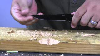 getlinkyoutube.com-Benchmade 375 Adamas Test and Demonstration