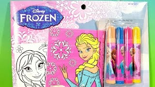 getlinkyoutube.com-Disney Frozen Marker Poster Set Snow Queen Elsa and Princess Anna