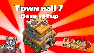 Clash Of Clans - NEW Town Hall 7 Base layout (Defense for Dark elixer)