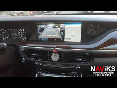 2018 Genesis G90 Ultimate NAViKS OEM Cameras in Motion Bypass View Rear, Front Camera in Motion
