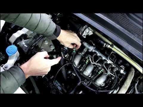 Профилактика форсунок двигателя на Range Rover Evoque 2,2  Ленд Ровер Эвок  2011 года  1часть