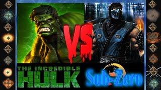getlinkyoutube.com-Incredible Hulk (Marvel Comics) vs Sub-Zero (Mortal Kombat) - Ultimate Mugen Fight 2015