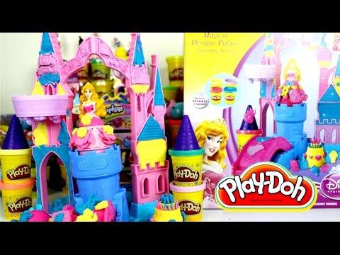 Plastilina Play Doh Magical Desig Palace+ Ft Princesa Aurora| Videos de Play-Doh