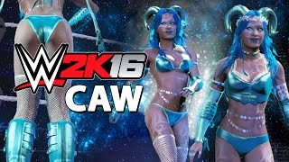 getlinkyoutube.com-WWE 2K16 - CAW Diva - Space Nymph