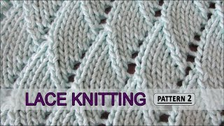 getlinkyoutube.com-Overlapping Waves | Lace Knitting Pattern #2