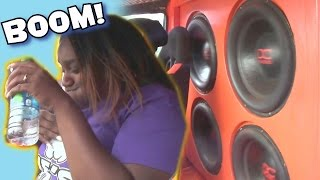 getlinkyoutube.com-Lady Almost PUKES From LOUD BASS System! FUNNY Car Audio Demos & EXTREME SPL Subwoofer SMASHUP