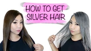 How To Get Silver Hair from Brown Hair Tutorial