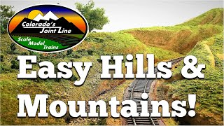 getlinkyoutube.com-How to Make Easy Hills & Mountains for Model Train Layouts and Dioramas