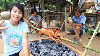 Yummy cooking BBQ pig recipe - Cooking skill Roast pig