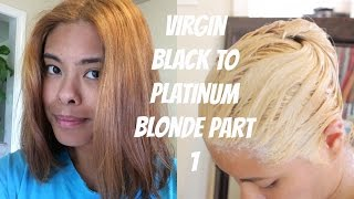 getlinkyoutube.com-Virgin Asian Black to Platinum Blonde Part 1