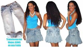 getlinkyoutube.com-Como hacer una Falda de Jean Reciclado - Tutorial de SANDRA PADILLA