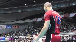 getlinkyoutube.com-Volleyball 東レ vs サントリー 2set Vプレミアリーグバレーボールファイナル 2013.4.14