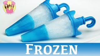 getlinkyoutube.com-FROZEN JELLO TIP POPSICLES - ice lolly block pop - disney movie princess Elsa Anna