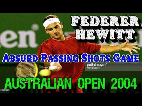 Federer v Hewitt ● Absurd Passing Shots Return Game | 4R AO 2004