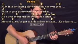 Mrs. Robinson (Simon and Garfunkel) Strum Guitar Cover Lesson with Chords/Lyrics