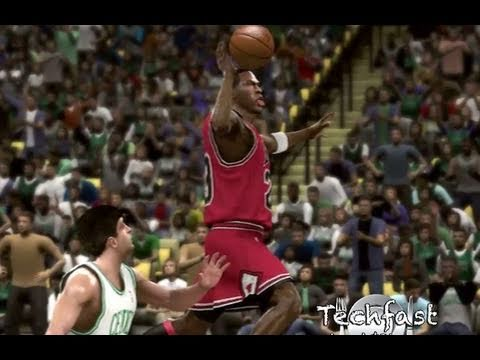 NBA 2K11 Michael Jordan Dunk From Free Throw Line! ZOMG! :)