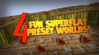 getlinkyoutube.com-Minecraft | Fun With SUPERFLAT Worlds! | 4 Awesome Superflat Presets (Minecraft Superflat)