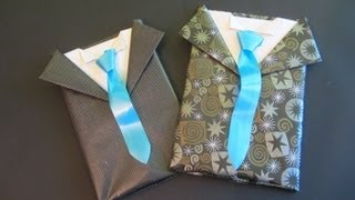 getlinkyoutube.com-Tutorial: Envoltorio de regalo para caballero. Gift wrapping for men