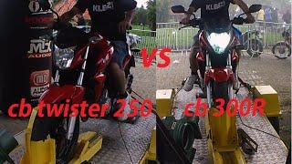"""cb twister vs cb 300 - """"Dinamômetro do tiozão"""""""