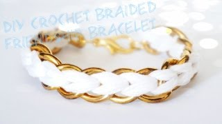 getlinkyoutube.com-How to: DIY Crochet Braided Chain Bracelet