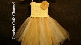 getlinkyoutube.com-كروشيه فستان مع التل Tutu dress | كروشيه كافيه|Crochet Cafe