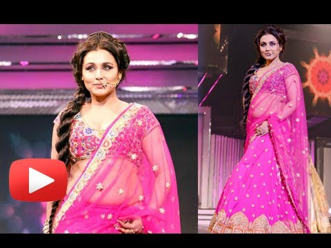 Rani Mukherjee Hot Cleavage And Navel Show In Pink Tranparent Saree