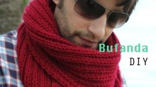 getlinkyoutube.com-Como hacer bufanda de hombre DIY