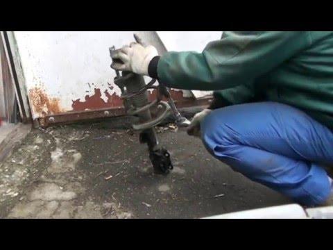 Замена передних амортизаторов и пружин kia rio 2010гв, 122ткм