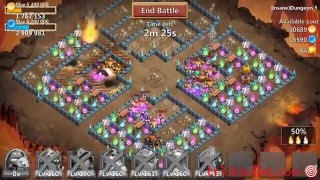getlinkyoutube.com-Castle Clash Insane Dungeon 3-6 without santa,vlad,mino,sm(f2p heroes only)