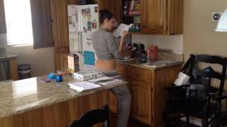 getlinkyoutube.com-Caught my wife dancing in the kitchen