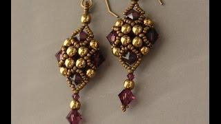 getlinkyoutube.com-Sidonia's handmade jewelry - Beaded Art Deco Style Earrings