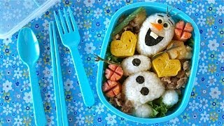 getlinkyoutube.com-Olaf Bento Lunch Box (Disney FROZEN Do You Wanna Build A Snowman?) オラフ弁当 - OCHIKERON