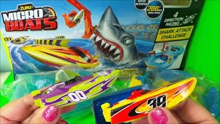 getlinkyoutube.com-Zuru Micro Boats Racing Track Playset Toy for Kids Shark Attack Water Toys Unboxing and Full Review
