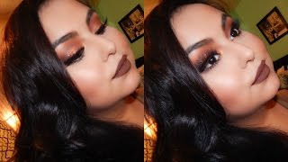 getlinkyoutube.com-Warm Holiday Makeup Look | Morphe 35O Palette