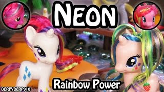 getlinkyoutube.com-MLP Beach Vacay 1: Rainbow Power Neon Holly Dash Rarity Pinkie Pie My Little Pony Review Parody