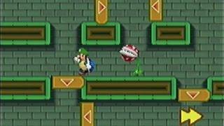 getlinkyoutube.com-Newスーパーマリオブラザーズ(DS)-12「ワールド2 W2-3(隠しゴール含む) 土管の中は大迷路!?」